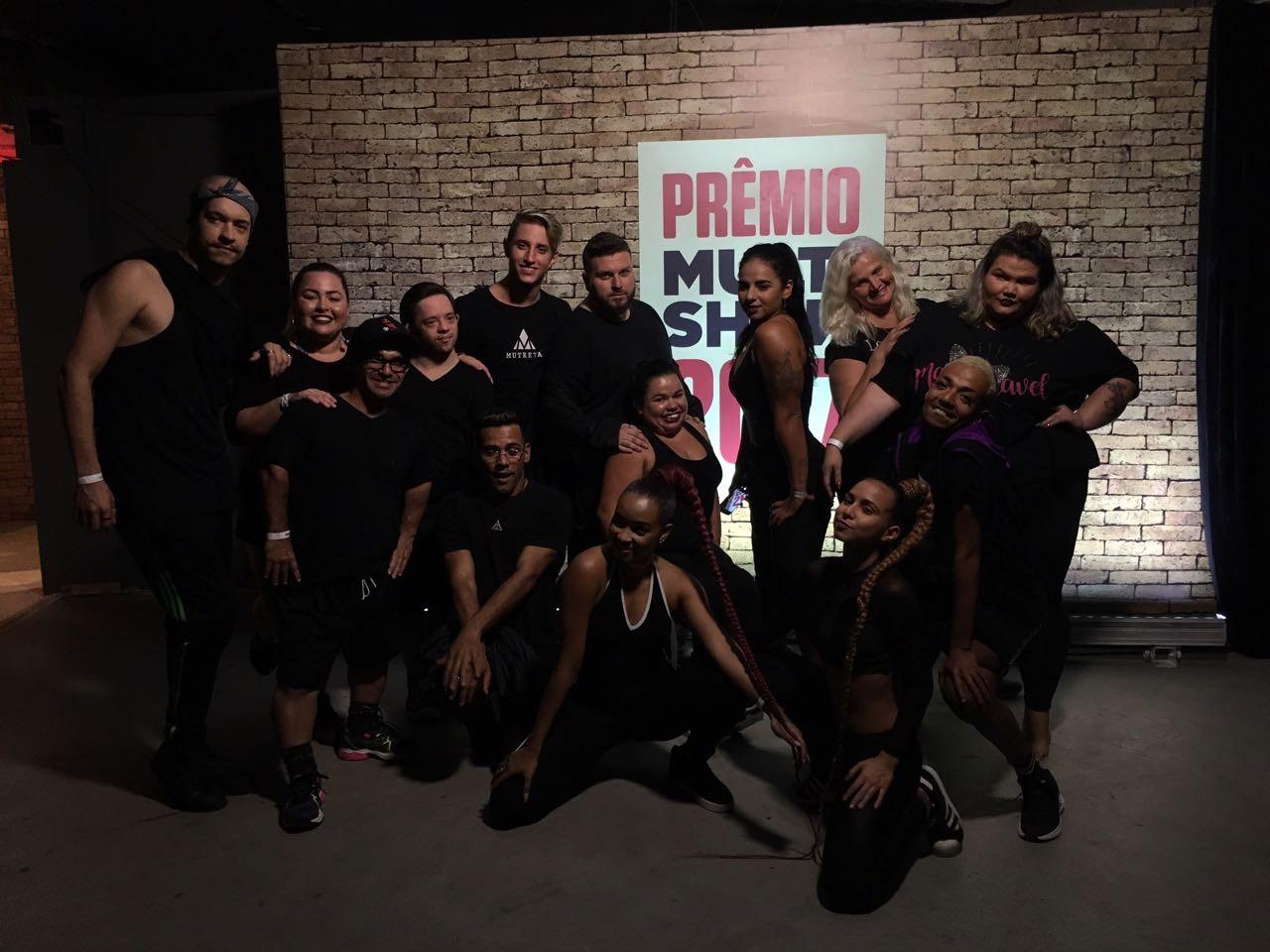 Novo time de bailarinos da Anitta causou nos bastidores do Prmio Multishow (Foto: Divulgao/Multishow)