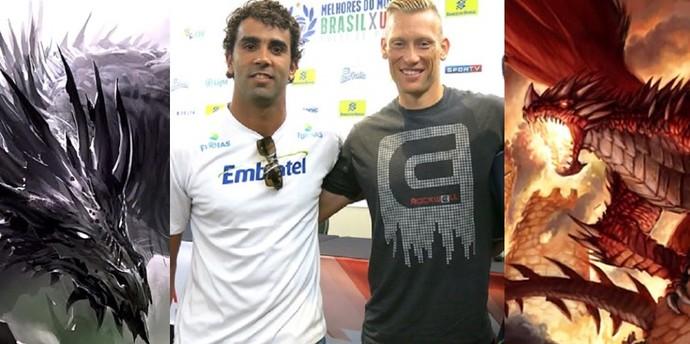 """Pedro, o """"Dragão Negro"""", e Patterson, o """"Dragão Vermelho"""" (Foto: Reprodução / Facebook)"""