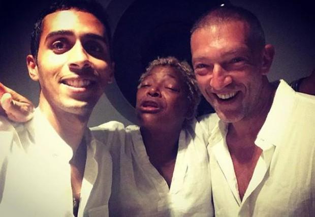 Mosquito, Mart'nália e Vincent Cassel (Foto: Reprodução/Instagram)