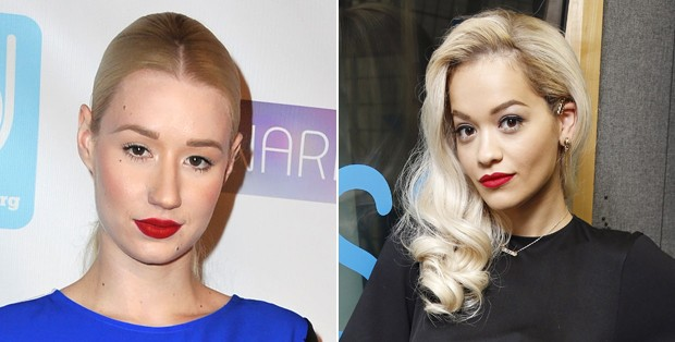 As cantoras Iggy Azalea ( esquerda) e Rita Ora ( direita). (Foto: Getty Images)