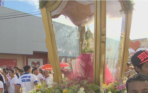 Círio de Nazaré em Santana aconteceu no domingo (19). (Foto: Reprodução/TV Amapá)