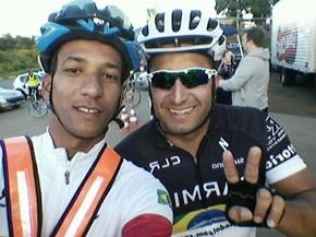 Jaco e Clarindo estavam treinando na Rio-Santos (Foto: Reprodução / Facebook)