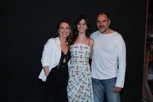 Viviane Pasmanter,  Priscila Steinman e Humberto Martins na Coletiva de Totalmente Demais (Foto: Marcello Sá Barreto e Anderson Borde/ Ag. News)