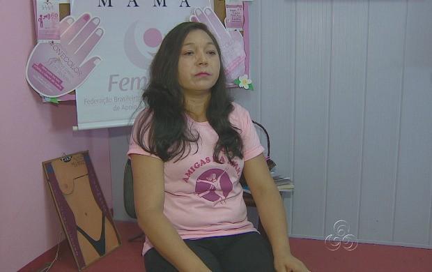 Raimunda Oliveira é uma das participantes do grupo 'Amigas da Mama' (Foto: Amazonas TV)