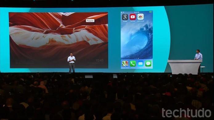 O novo ambiente do Chromecast é chamado de Backdrop (Foto: Reprodução / Google)