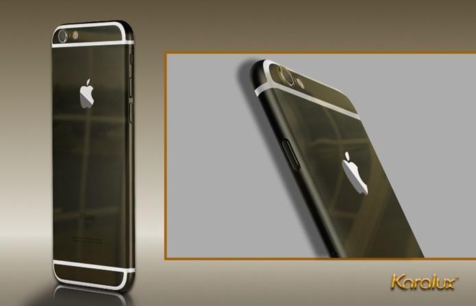 Enigmático iPhone de ouro preto é vendido por R$ 10 mil (Foto: Divulgação / Karalux)