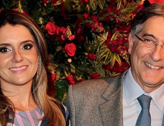 Carolina Oliveira e Fernando Pimentel  (Foto: T.Mourão)