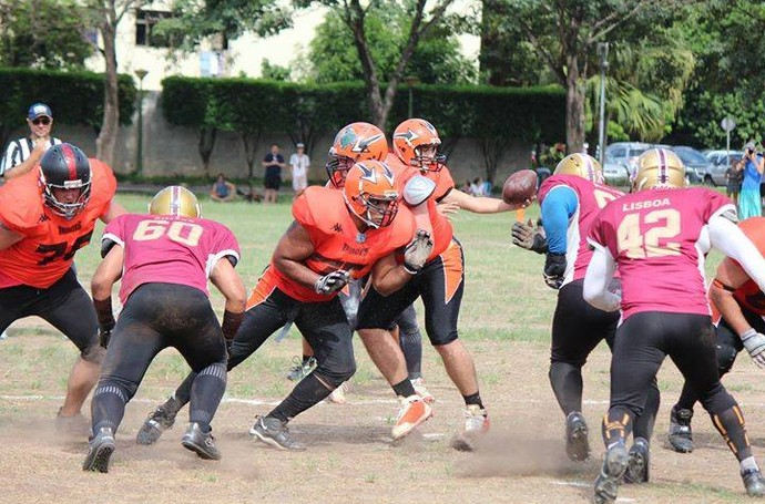 Campeonato Capixaba de futebol americano 2015: Desportiva Piratas x Vila Velha Tritões (Foto: Roberto Pereira Junior)