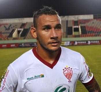 Rafael Tanque, atacante Rio Branco-AC (Foto: Duaine Rodrigues)