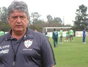 Geninho, Treino da Portuguesa (Foto: Rodrigo Faber / Globoesporte.com)