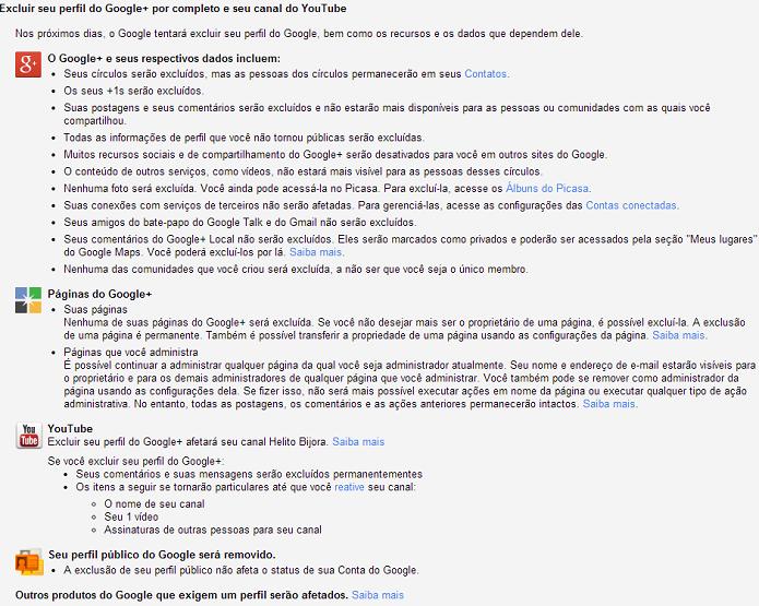 Saiba quais serviços serão afetados ao deletar o Google+ (Foto: Reprodução/Helito Bijora)