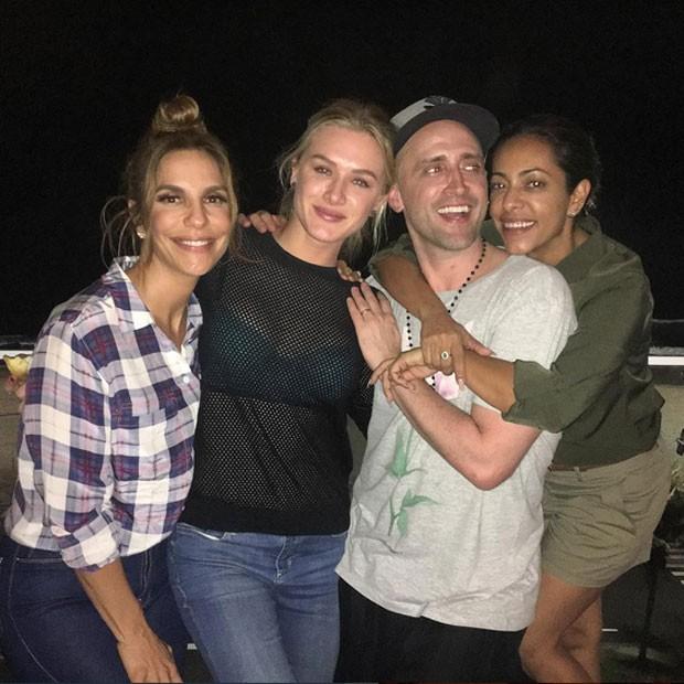 Ivete Sangalo, Fiorella Mattheis, Paulo Gustavo e Samantha Schmütz no Rio (Foto: Instagram/ Reprodução)