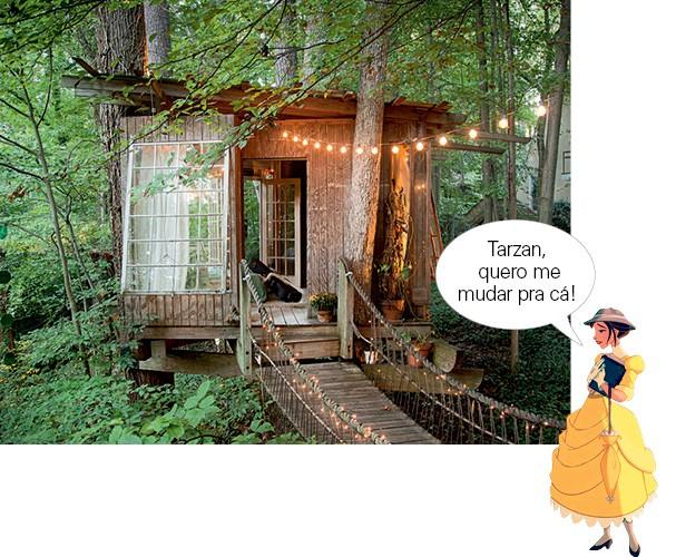 Essa tree house fofa, na Geórgia (EUA), pode ser alugada no Airbnb (Foto: Divulgação)