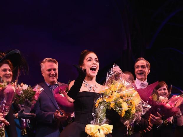 Vanessa Hudgens em estreia de musical em Nova York, nos Estados Unidos (Foto: Dimitrios Kambouris/ Getty Images/ AFP)