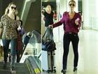 Mariana Ximenes e outros famosos são clicados em aeroporto do Rio