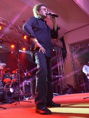 Reginaldo Rossi durante apresentação em Manaus (Foto: Willian Rezende)