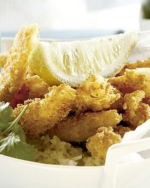 Iscas de peixe com maionese de coentro e pimenta (Foto: Gallo Images Pty Ltd./StockFood)