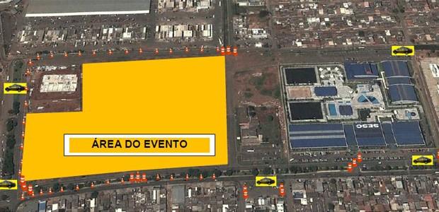 Esquema especial de trânsito para 8ª edição do Maior São João do Cerrado (Foto: Divulgação/DetranDF)
