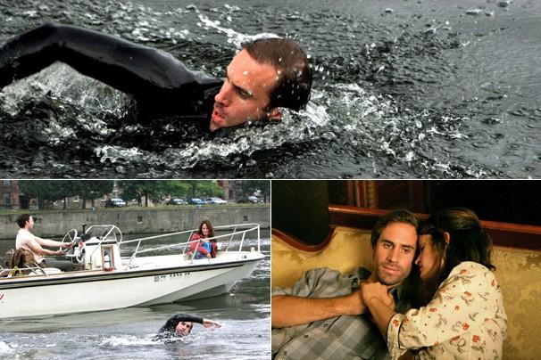 Paul (Joseph Fiennes) decide nadar todo o rio Hudson em 'Contra Corrente' (2009)  (Foto: Divulgação)