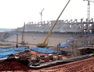 obras na Arena Corinthians Itaquerão (Foto: Leandro Canônico / Globoesporte.com)