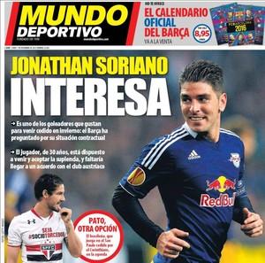 Pato capa jornal Barcelona (Foto: Reprodução)
