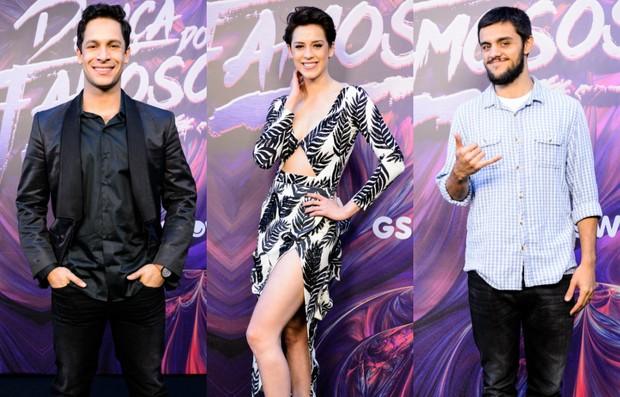 Finalistas da Dança dos Famosos: Rainer Cadete, Sophia Abrahão e Felipe Simas (Foto: Globo/Ramón Vasconcelos)
