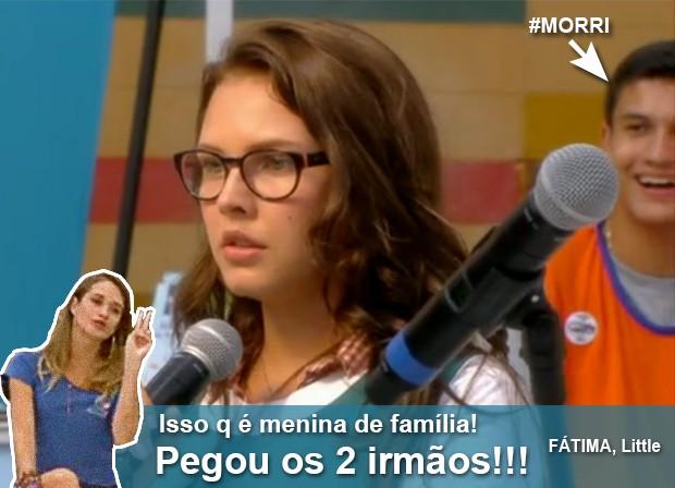 Fatinha não perdoa Luana (Foto: Malhação / TV Globo)