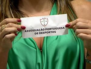Frame - Portuguesa sorteio (Foto: Reprodução Tv Globo)