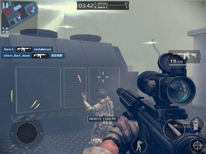 Ao atirar, sua posição é denunciada no mapa para os outros jogadores (Foto: Reprodução / Dario Coutinho)