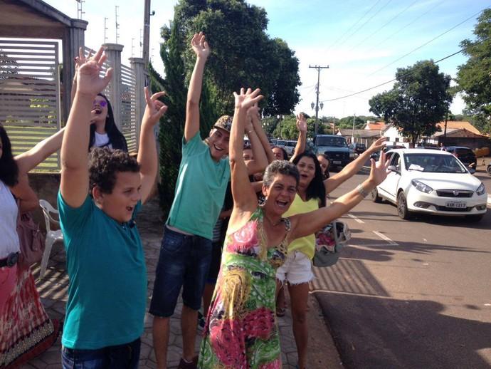 Festa para Wagner Barreto em Porto Rico  (Foto: Arquivo pessoal)