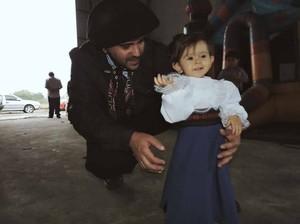 Menina se vestiu de Shana Müller em homenagem ao Galpão Crioulo (Foto: Arquivo Pessoal)