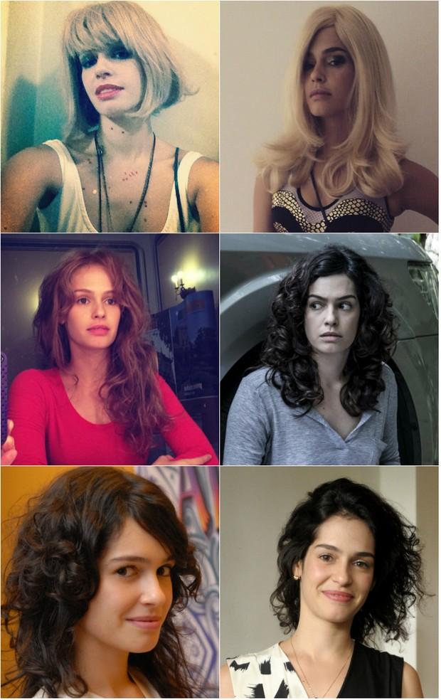 Maria Flor e seus diferentes penteados com perucas e cabelos naturais. Atriz diz que gosta de mudar de visual (Foto: Reprodução do Instagram)