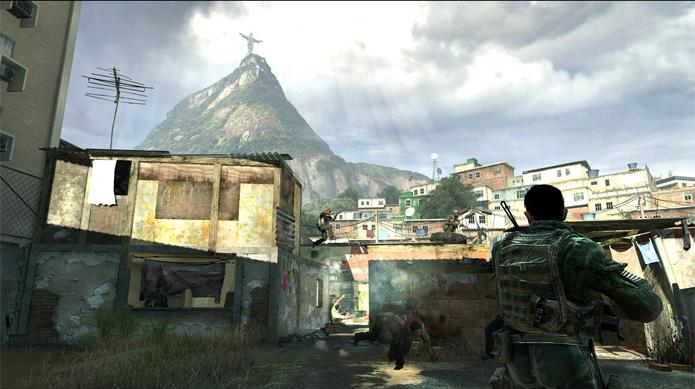 Modern Warfare 2 traz o exército norte-americano para combater traficantes nos morros cariocas (Foto: Divulgação/Activision)