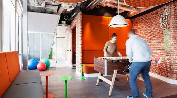 Uma das áreas comuns do escritório (Foto: Divulgação)