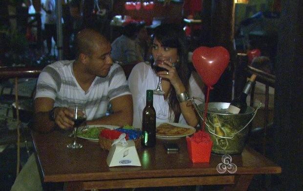 Noite do Dia dos Namorados foi romântica em Boa Vista (Foto: Bom Dia Amazônia)