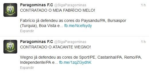tweet Paragominas (Foto: Reprodução / Twitter)