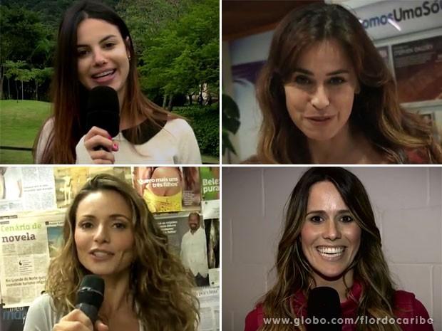 Sthefany Brito, Daniela Escobar, Rita Guedes e Fernanda Pontes dão dicas para passar o Dia dos Namorados acompanhada (Foto: Flor do Caribe / TV Globo)
