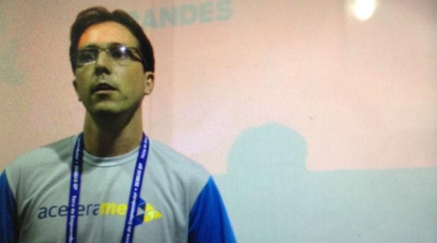 Juliano Londero, empreendedor que apresentou o pitch da AceleraMEI (Foto: Fabiano Candido)