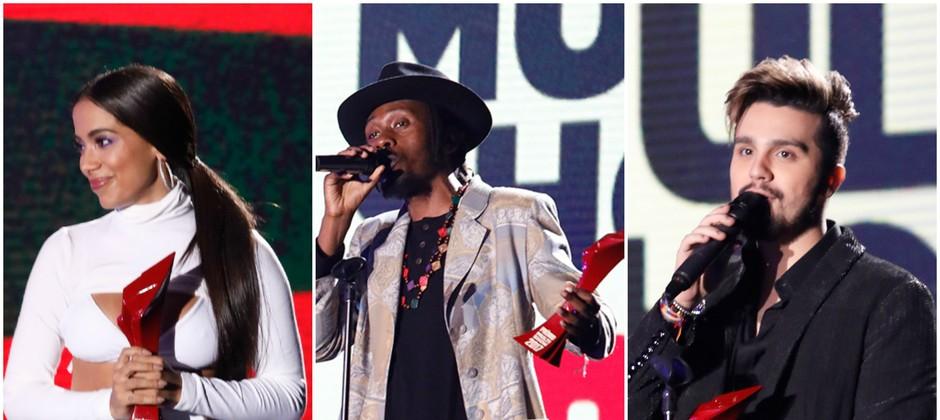 Anitta, Rincon Sapiência e Luan Santana foram os grandes vencedores do Prêmio Multishow 2017