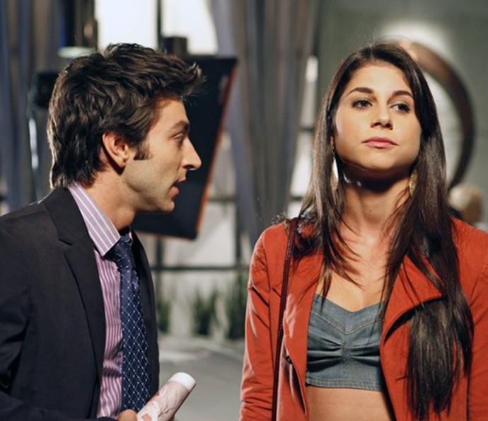 Chandelly como Brunessa, em Cheias de Charme, ao lado de Rodrigo Pandolfo, que interpretou Humberto (Foto: TV Globo)