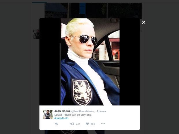 Post do diretor e roteirista Josh Boone indica que Jared Leto deve ser Lestat no remake de 'Entrevista com o vampiro' (Foto: Reprodução/Twitter/JoshBooneMovies)