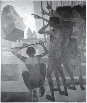 PORTINARI, C. O descobrimento do Brasil. 1956. Óleo sobre tela, 199 x 169 cm Disponível em: www.portinari.org.br. Acesso em: 12 jun. 2013. (Foto: Reprodução)