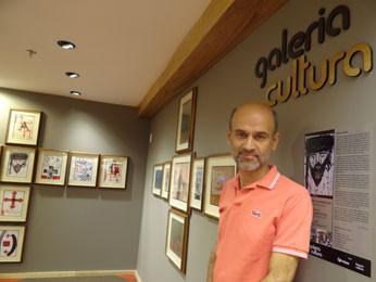 José Carlos Honório, curador geral da Galeria Cultura (Foto: Luna Markman/G1)
