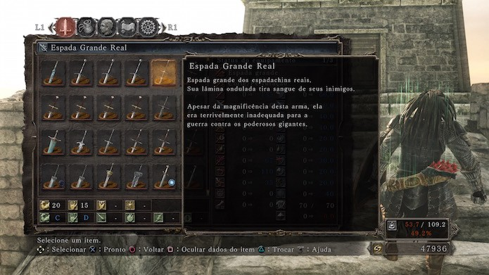 Dark Souls 2: Scholar of the First Sin: Espada Grande Real (Foto: Reprodução/Victor Teixeira)