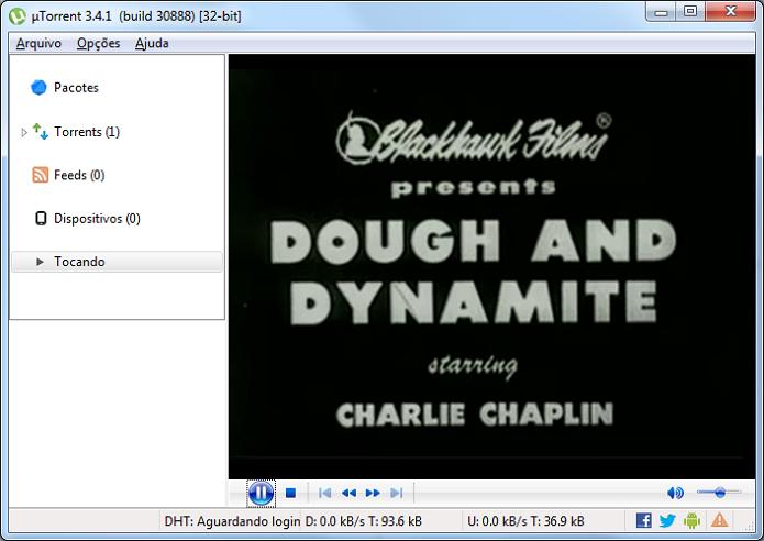 Aprenda a ver os filmes com download em andamento no uTorrent (Foto: Reprodução/Edivaldo Brito)