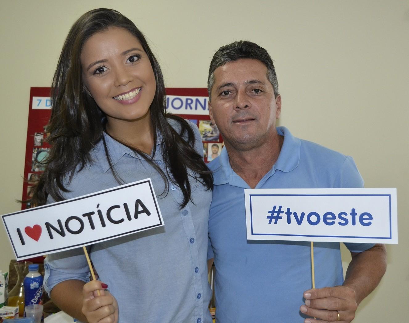 TV Oeste faz ação especial ao Dia do Jornalista (Foto: Divulgação)