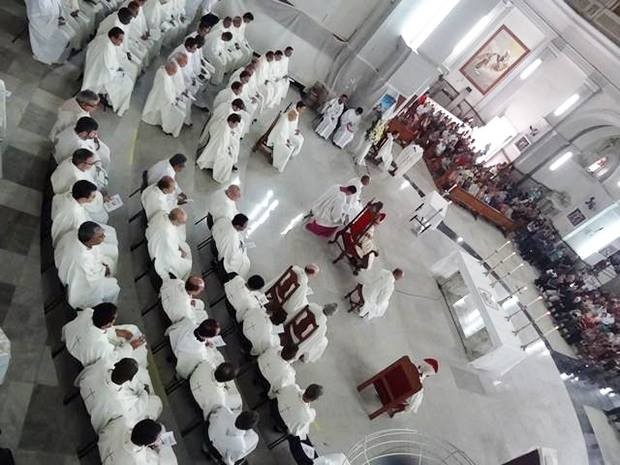 Missa Santos Óleos Catedral Juiz de Fora (Foto: Assessoria de Comunicação Arquidiocese JF/ Divulgação)
