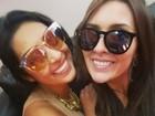 Amanda e Tamires acordam cedo após final do 'BBB 15' e postam selfie