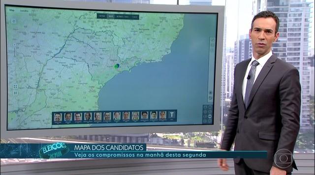 Confira a agenda dos candidatos ao governo de São Paulo nesta segunda (10)