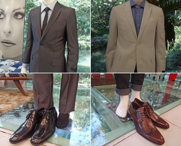 Confira a combinação de ternos, sapatos e meias (Foto: Mais Você / TV Globo)